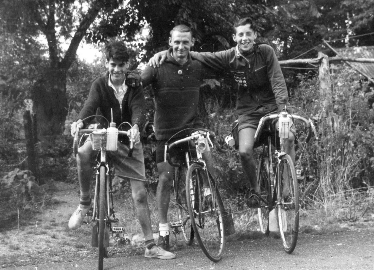 One of our happy customers, with friends, in their youth!