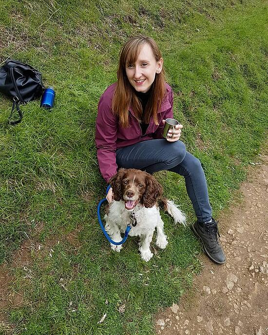 Rebecca Ferrier - ghostwriter - country walk with an old dog
